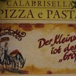 In Bad Soden ist der Kleinste, der Größte. Pizzeria Callabrisella.