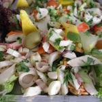 frische Antipasti mit Meeresfrüchten